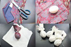 Telur Bercorak dari Dasi Bekas