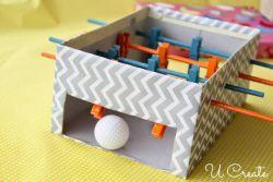 Meja Sepakbola dari Kotak Sepatu
