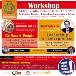 Be Smart People, Leadership for Enterpreunership Workshop dan Seminar