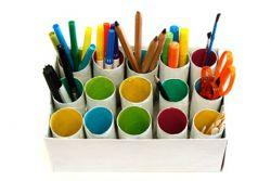 Cara Mudah Membuat Tempat Pensil dari Roll Tisu Bekas