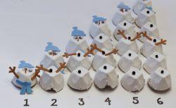 Boneka Salju dari Kemasan Telur Bekas