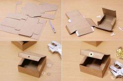 Kotak Kado dari Kardus Bekas