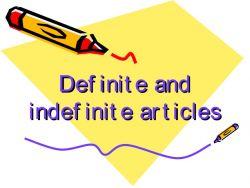 Definite dan Indefinite Article pada Kalimat