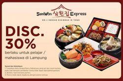 Promo Pelajar Samwon Express Hadir Lagi