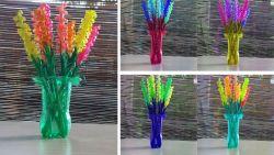 Cara Membuat Bunga Lavender Unik dari Sedotan Plastik