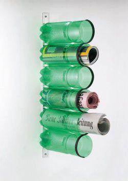 Cara Mudah Membuat Tempat Majalah dari Botol Bekas