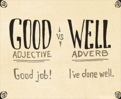 Ini Dia Cara Penggunaan Tepat pada Kata Good dan Well