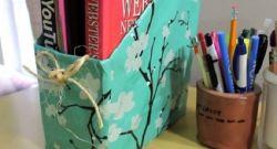 Membuat Rak Buku dari Karton Bekas yang Unik dan Menarik