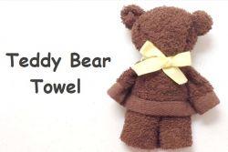 Buat Boneka Teddy Bear dengan Handuk Mini!