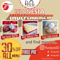 Promo Merah Putih di Red Pie Cafe
