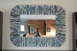 Membuat Frame untuk Cermin dari Koran Bekas