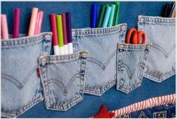 Yuk Buat Sendiri Organizer dari Jeans Bekas