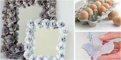 Langkah Membuat Cermin Cantik Pakai Tempat Telur Bekas