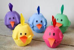 Buat Anak Ayam Lucu dengan Karton Telur Bekas!