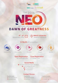 Neo 2016 - Dawn of Greatness