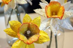 Membuatnya Bunga Cantik dari Karton Wadah Telur