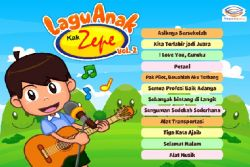 Yuk Download Aplikasi Lagu Anak Kak Zepe Vol. 2!
