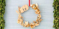 Membuat Christmas Wreath yang Keren Bertema Emas
