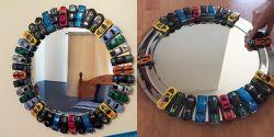 Mengubah Cermin Polos Menjadi Keren dari Mobil Mainan