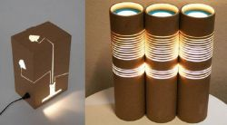 Cara Membuat Tempat Lampu dari Kardus Bekas
