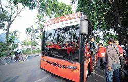 Keren! Electric Solar Bus Resmi Beroperasi di Lingkungan Kampus ITS
