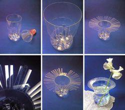 Membuat Vas Bunga dari Botol Bekas