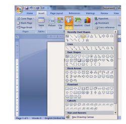 Membuat Shape dan Menambahkan Text pada Shape di MS Word