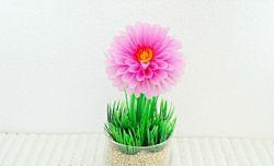 Membuat Bunga Dahlia dari Sedotan Plastik
