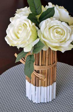 Membuat Vas Bunga yang Unik dan Cantik dari Bambu