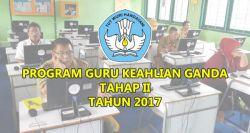 Program Keahlian Ganda Tahap II 2017 untuk Guru SMK Kembali Dibuka