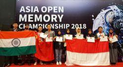 Pelajar Indonesia Raih 12 Emas di Ajang Asia Open Memory Championship 2018