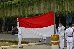 Kemendikbud Peringati Hari Lahir Pancasila dengan Menggelar Upacara Bendera