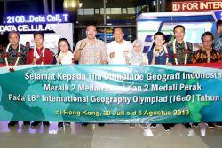 Raih Empat Medali, Indonesia Juara Umum Olimpiade Geografi Internasional 2019